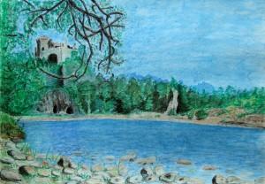 025-pastel_papier-ruiny_nad_dunajcem-35x50cm