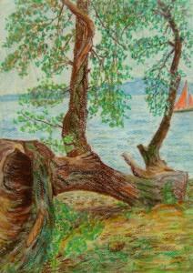 030-pastel_papier-powalone_drzewo-35x25cm