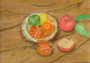 037-akwarela_papier-owoce_na_talerzu-25x35cm
