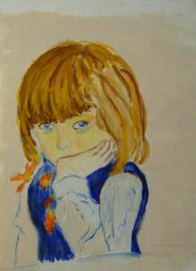 050-akwarela_papier-zamyslone_dziecko-17x12cm