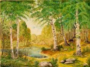 Brzozowy las, 50x70cm
