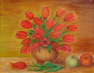 Tulipany w wazonie 50x40cm