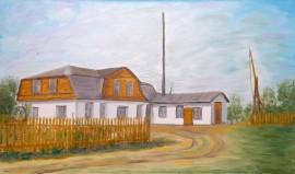 94-olejny_plotno-przedwojenny_mlyn_na_mankowizmie-30x50cm